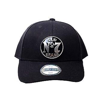 Jack Daniels Baseball Cap Old No 7 Logo Metal Badge nouveau Black Snapback officiel