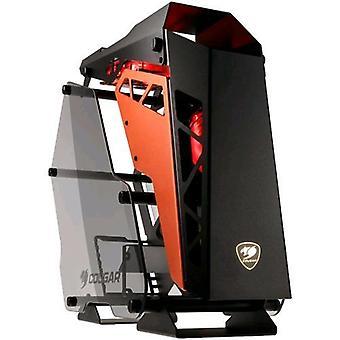 Cougar conquista armadio middle-tower temperato vetro nero/arancione