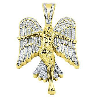 925 zilver micro Pave hanger-CREST goud