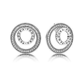 Pendientes de espárragos de mujer de plata Pandora - 297446CZ