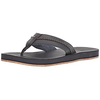 Tommy Hilfiger Mens Dilly Fabric Slip On Open Toe Flip Flops