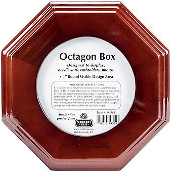 Mahogany Octagon Box 6