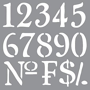 Americana Decor Stencil Olde World Numbers Ads 09