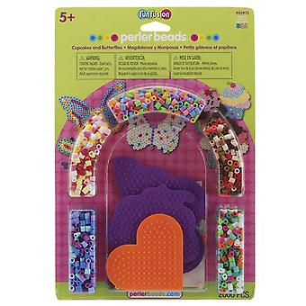 Perler Spaß Fusion Sicherung Bead Activity Kit Cupcakes & Schmetterlinge 559 75