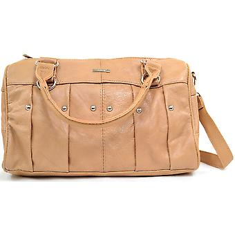 Ladies Soft Leather Handbag / Shoulder Bag - Tan