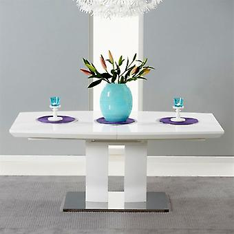 Mark Harris Rossini 1.8m White High Gloss Extending Dining Table