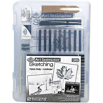 Art Instructor Sketching Clearview Art Set-Small - 35pc RSKT3105