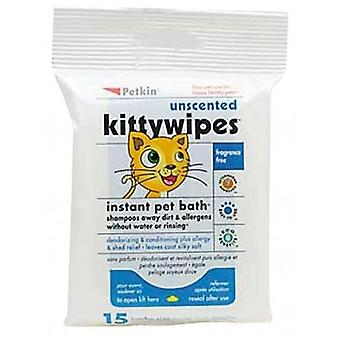 Salviette Unscented Kitty 15pk (Petkin)