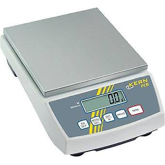 Precision scales Kern PCB 6000-1 Weight range 6 kg Readability 0.1 g mains-powered, rechargeable Silver