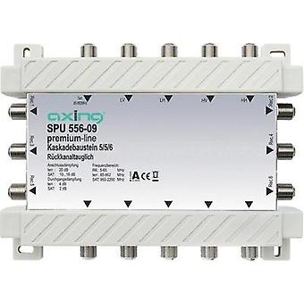 SAT cascade multiswitch Axing SPU 556-09 Inputs (multiswitches): 5 (4 SAT/1 terrestrial) No. of participants: 6