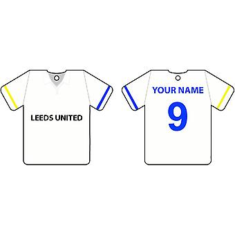 Personalised Leeds United Football Shirt Car Air Freshener