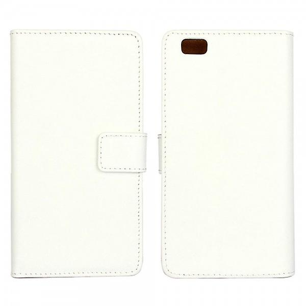 Pocket wallet Deluxe white for Huawei Ascend P8 Lite