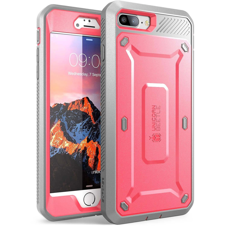 SUPCASE-Apple iPhone 7,Unicorn Beetle PRO Series Case-Pink/Gray