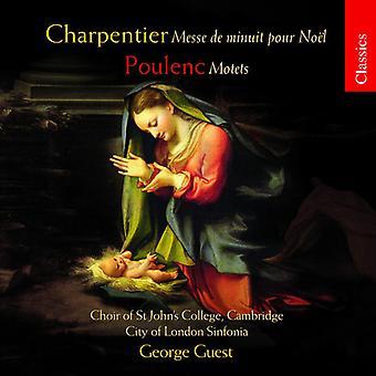 George Guest & City of London - Charpentier: Messe De Minuit Pour Noel; Poulenc: Motets [CD] USA import