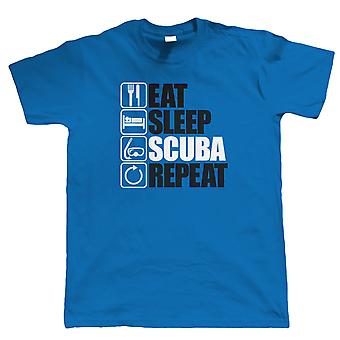 Eat Sleep Scuba Repeat, Mens Funny, Diving T Shirt