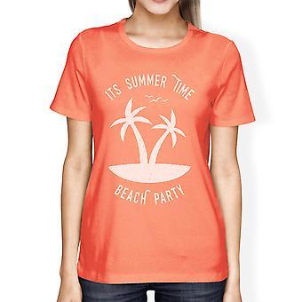 De zomer tijd Beach Party Womens Peach grappige grafische zomer Shirt