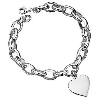 925 серебряные сердце браслет