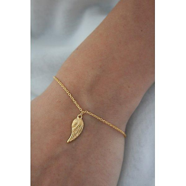 W.A.T Gold Plated 925 Sterling Silver Angel Wing Bracelet By Kissika