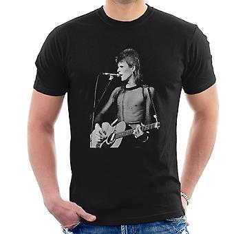 David Bowie Ziggy Stardust gitara Hammersmith Odeon 1973 Men's T-Shirt