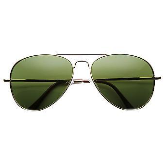 Media lágrima caída clásico Aviator Metal ligero gafas de sol (56mm)