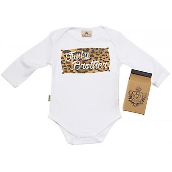 Spoilt Rotten Funky Brother Baby Grow 100% Organic In Milk Carton