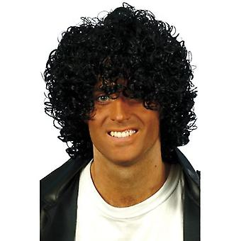 Smiffys Afro Wet Look Wig Black Curly (Costumes)