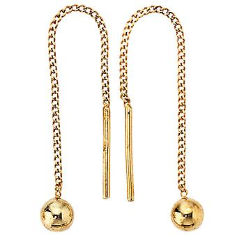 Earrings put through 333 / - Gelbgold, length approx. 54.5 mm earrings ladies