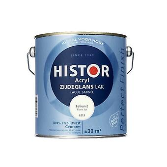 Histor Perfect Finish Acryl zijdeglanslak leliewit 6213 2,5 l