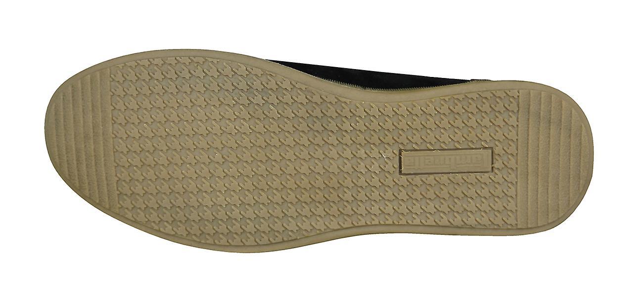 Lambretta Mens Shoes Black Casual Rico Trainers r4r6wazq