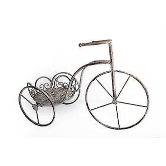 56cm CLASSIC COUNTRY GARDEN FLOWER BICYCLE PLANTER DECORATION TRICYCLE STAND