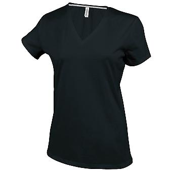 Kariban Womens/Ladies Feminine Fit Short Sleeve V Neck T-Shirt
