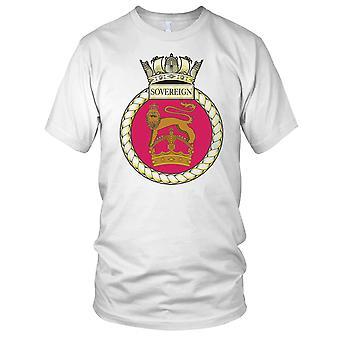Royal Navy HMS Sovereign Mens T Shirt