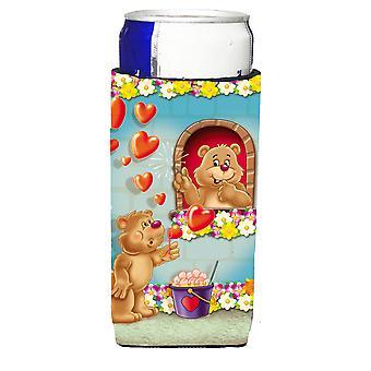 Teddy Bear Romeo und Juliet Liebe Michelob Ultra Getränke Isolatoren für schlanke can