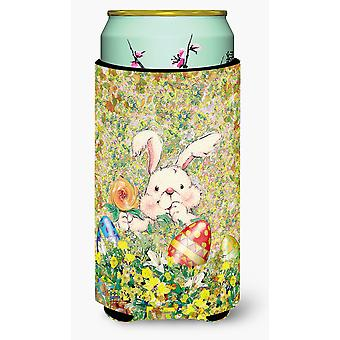 Easter Bunny and Eggs Tall Boy Beverage Insulator Hugger