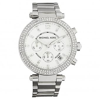 Michael Kors Watches Mk5353 Ladies Silver Chronograph Watch