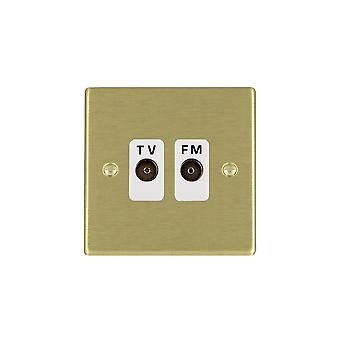 Hamilton Litestat Hartland Satin Brass Isolat TV/FM Diplex 1in/2out WH