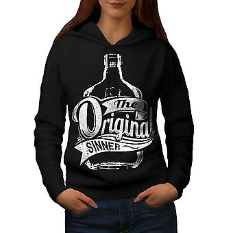 Unique Sinner Funny Women BlackHoodie | Wellcoda