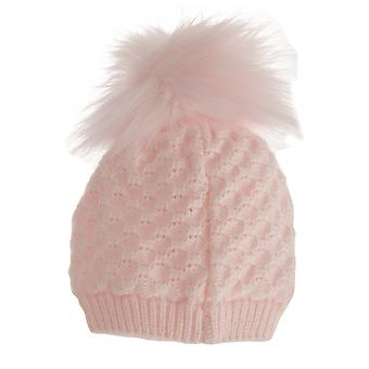 Nursery Time Baby Girls Crochet Winter Bobble Hat