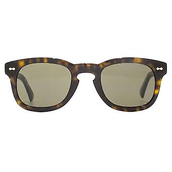 Gucci Vintage Keyhole Square Sunglasses In Havana Brown