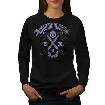 Woodchoppers Club Women BlackSweatshirt | Wellcoda
