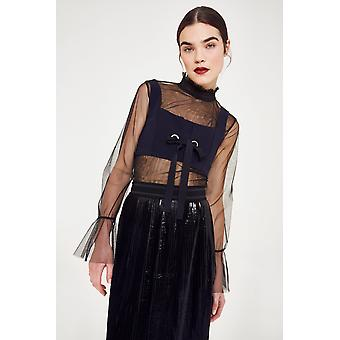 Endless Rose Corset Top With Mesh Underlay