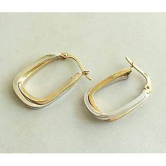 Christian bicolor golden earrings