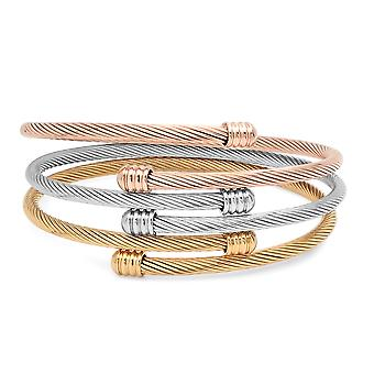 Ladies Set Of 3 Wrap Bracelets