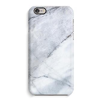 iPhone 6 / 6 s Full Print Fall (glänzend) - Marmor weiß