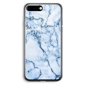 iPhone 7 Plus Transparent Case (Soft) - Blue marble