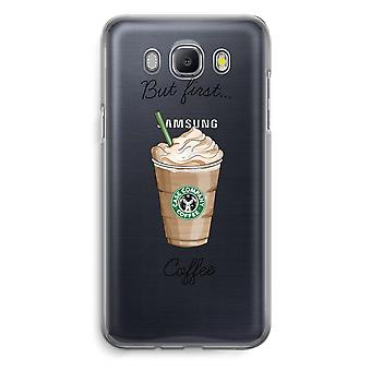 Samsung Galaxy J5 (2016) Transparent Case - But first coffee
