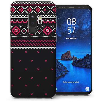 Samsung Galaxy S9 Plus Fairisle Dots Jumper TPU Gel Case – Red