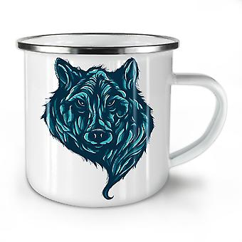 Wolf Beast Calm Animal NEW WhiteTea Coffee Enamel Mug10 oz | Wellcoda