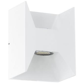 Eglo Morino White Cube LED omhoog en omlaag Wall Light