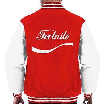 Genießen Sie Fortnite Coke Logo Männer Varsity Jacket